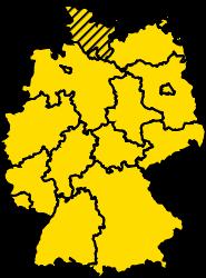 Bundesland Schleswig-Holstein Karte