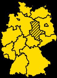 Bundesland Sachsen-Anhalt Karte