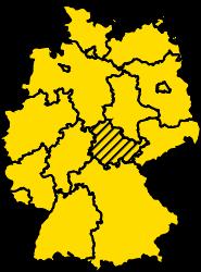 Bundesland Thüringen Karte