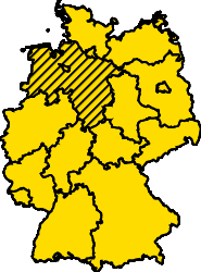 Bundesland Niedersachsen Karte