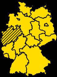 Bundesland Nordrhein-Westfalen Karte