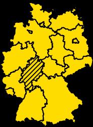 Bundesland Hessen Karte