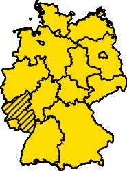 Bundesland Rheinland-Pfalz Karte