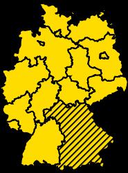 Bundesland Bayern Karte